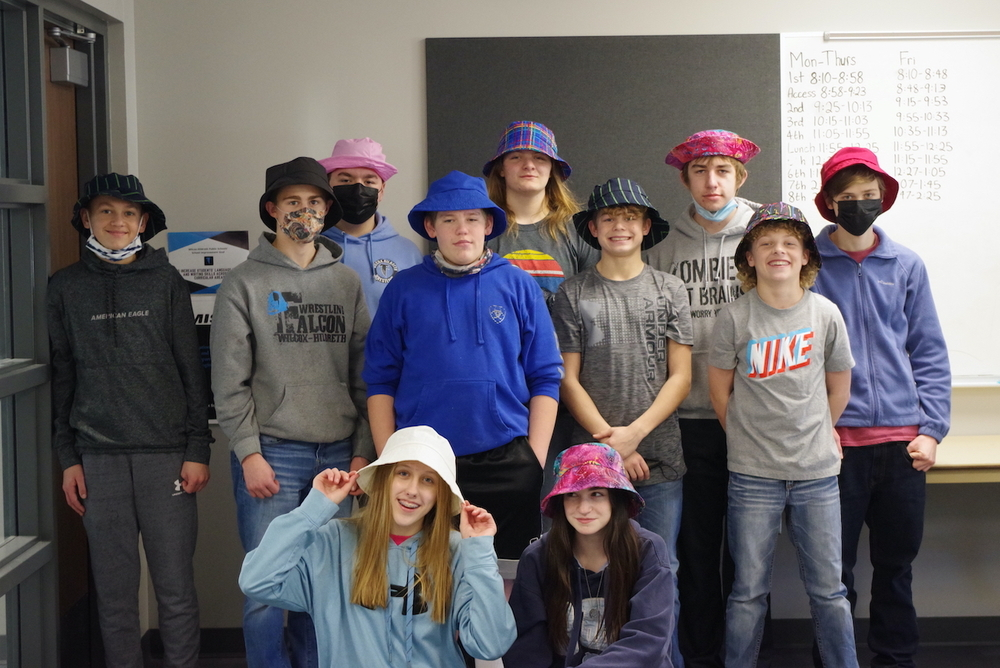 Hats Off to These 8th Graders!