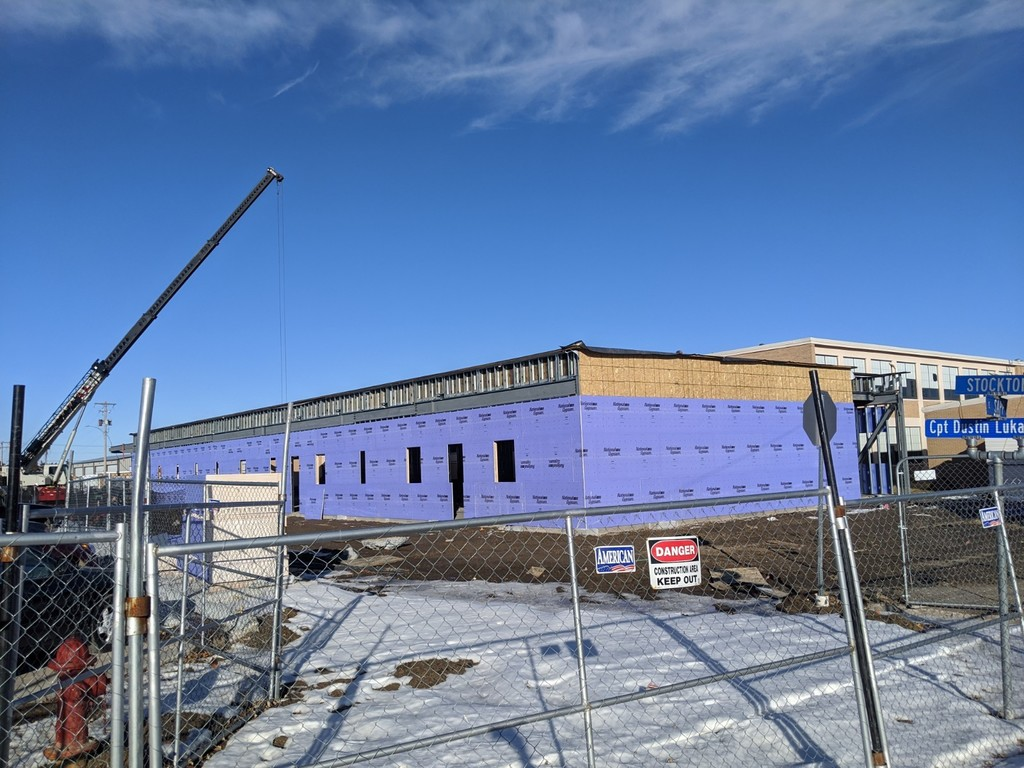 This picture was taken on January 6th of the west addition.