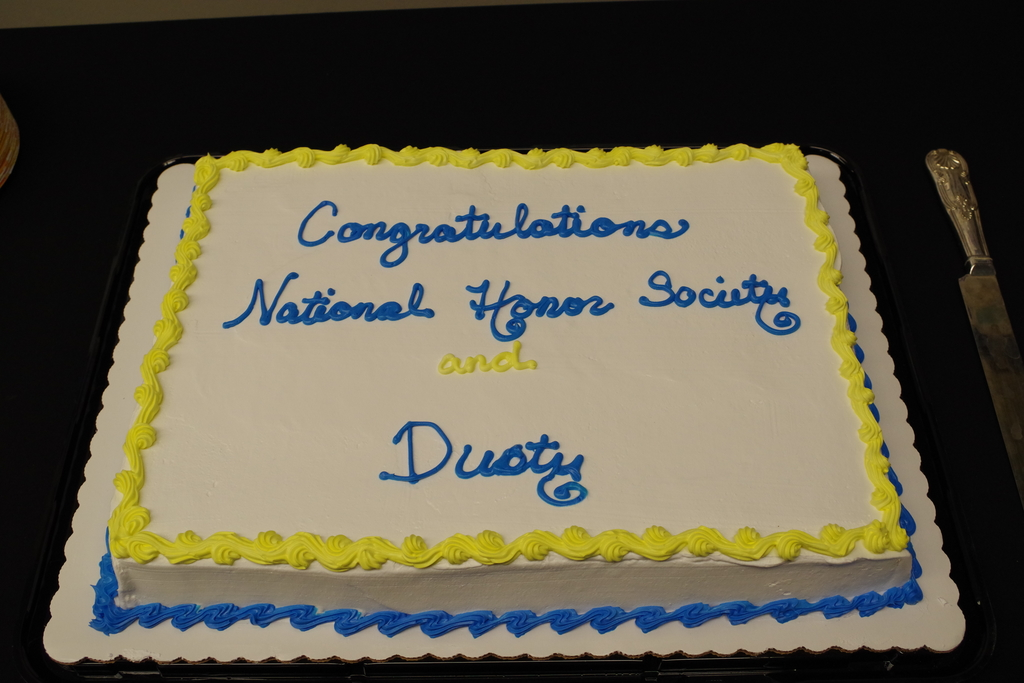 National Honor Society Induction cake