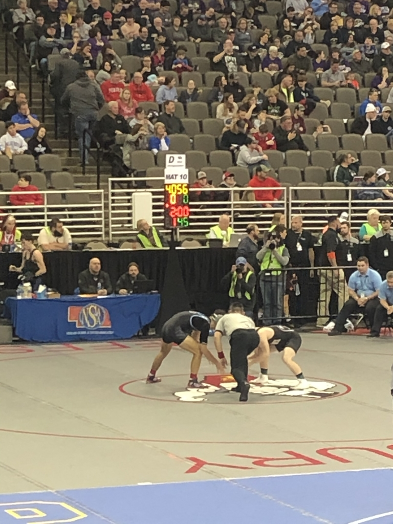 Lane Lieb 1st match at state wrestling.