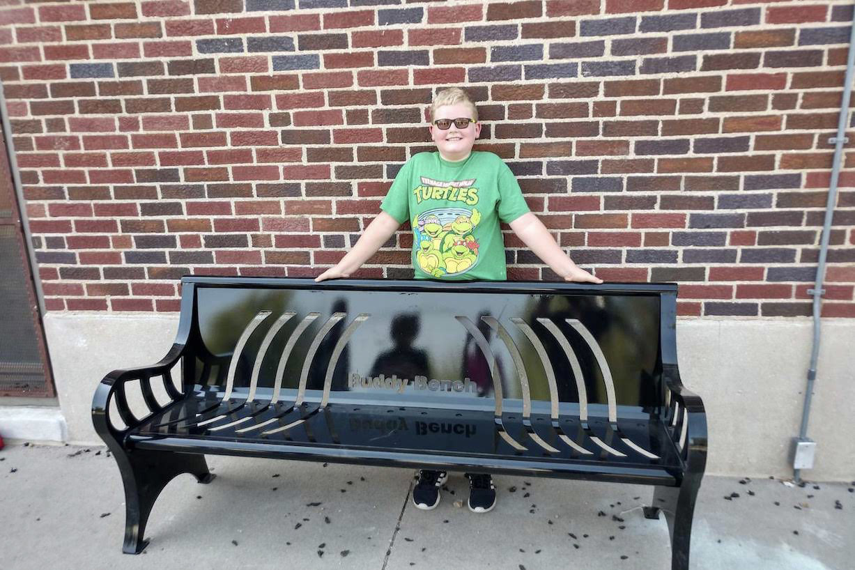 Buddy Bench at 3-6 building