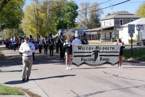 The WH Falcon Band marching in the parade